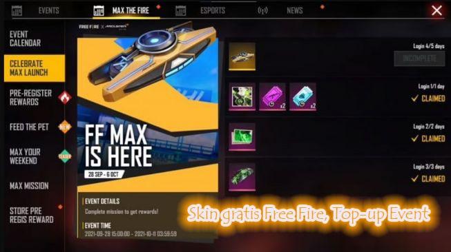 Langkah-Langkah Mendapatkan Skin Gratis Free Fire Max Bulan Ini-min